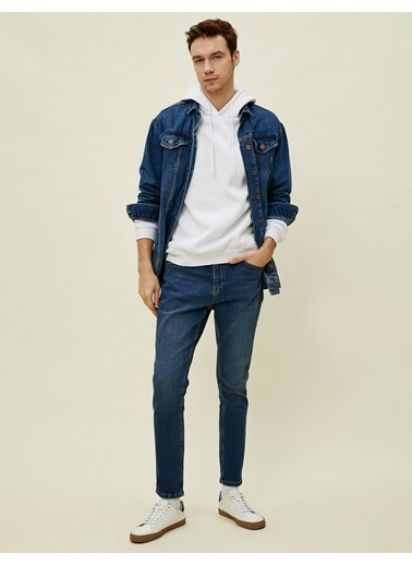 Koton Joe Tapered Fit Jean Pantolon Mavi